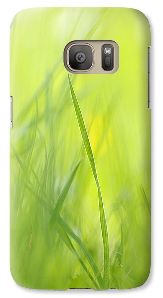Blades Of Grass - Green Spring Meadow - Abstract Soft Blurred Galaxy S7 Case by Matthias Hauser