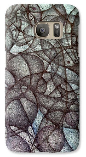 Galaxy Case featuring the drawing Blank Inside Card Design Twenty Six by Jack Dillhunt