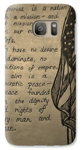 Galaxy Case featuring the drawing Blanket Of Freedom by Christy Saunders Church
