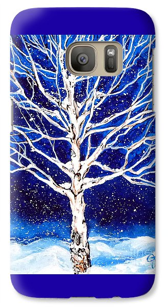 Galaxy Case featuring the painting Blanket Of Stillness by Jackie Carpenter