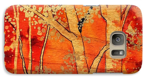 Galaxy Case featuring the painting Blazing Autumn by Yolanda Koh