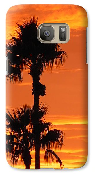 Galaxy Case featuring the photograph Blazing Sunset by Deb Halloran