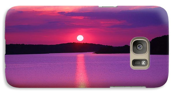 Galaxy Case featuring the digital art Blazing Sunset by Lorna Rogers Photography