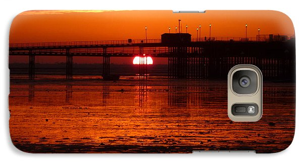 Galaxy Case featuring the photograph Blazing Sunset by Vicki Spindler