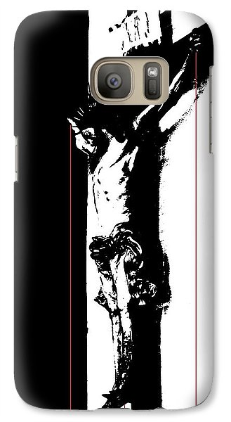 Galaxy Case featuring the photograph Bleeding Cross by Steve Godleski
