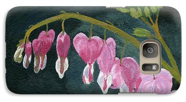 Galaxy Case featuring the painting Bleeding Heart by Lynne Reichhart