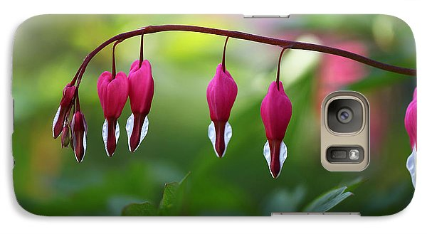Galaxy Case featuring the photograph Bleeding Hearts by Annie Snel