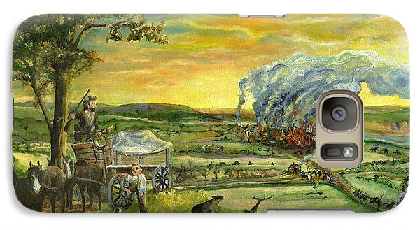Galaxy Case featuring the painting Bleeding Kansas - A Life And Nation Changing Event by Mary Ellen Anderson
