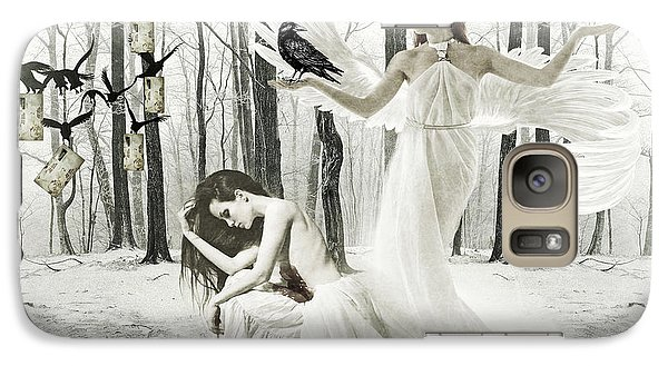 Galaxy Case featuring the digital art Bleeding Love by Riana Van Staden