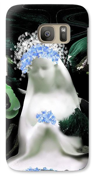 Galaxy Case featuring the digital art Blessed Mother Mary by Sherri  Of Palm Springs