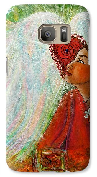 Galaxy Case featuring the painting Blessed Visit  by Deborha Kerr