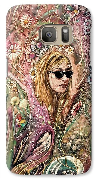 Galaxy Case featuring the painting Blind Beauty by Mikhail Savchenko