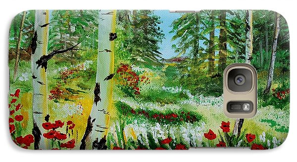 Galaxy Case featuring the painting Bliss by Leslie Allen