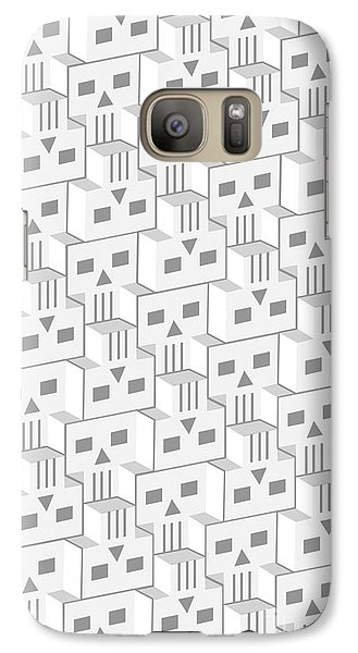 Galaxy Case featuring the digital art Blockheads - Light by Gregory Dyer