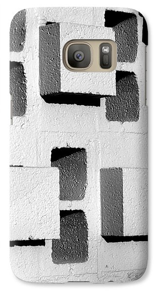Galaxy Case featuring the photograph Blocks by Jeff Brunton