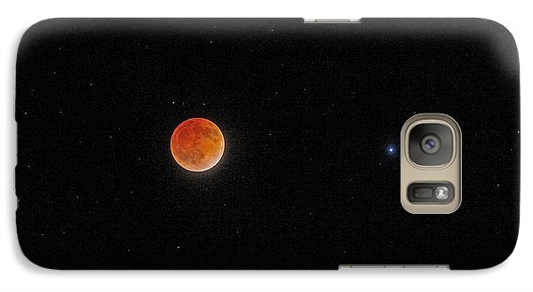 Galaxy Case featuring the photograph Blood Moon And Stars by Martin Konopacki