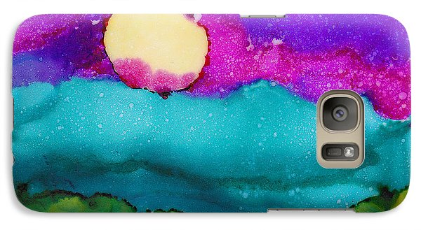 Galaxy Case featuring the painting Blood Moon by Angela Treat Lyon