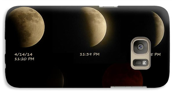 Galaxy Case featuring the photograph Blood Moon Eclipse Of 4/15/2014 by Cindy Wright