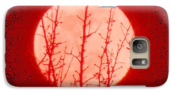 Galaxy Case featuring the photograph Blood Moon Sign In The Heavens by Anastasia Savage Ealy