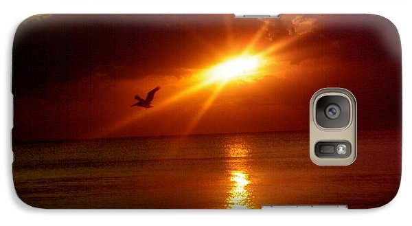 Galaxy Case featuring the photograph Blood Red Sunset by Carla Carson