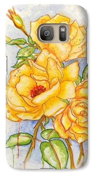 Galaxy Case featuring the painting Blood Sweat And Tears by Darren Robinson