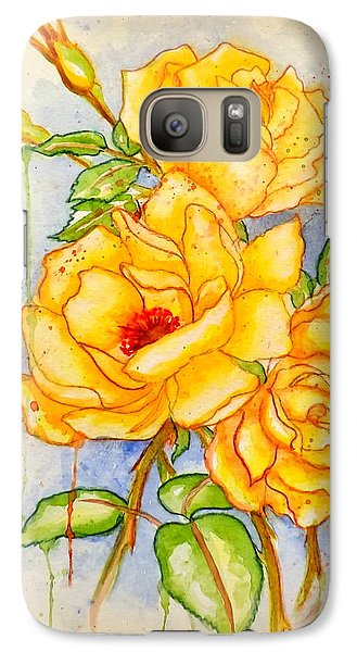 Galaxy Case featuring the painting Blood Sweat And Tears Vignette by Darren Robinson