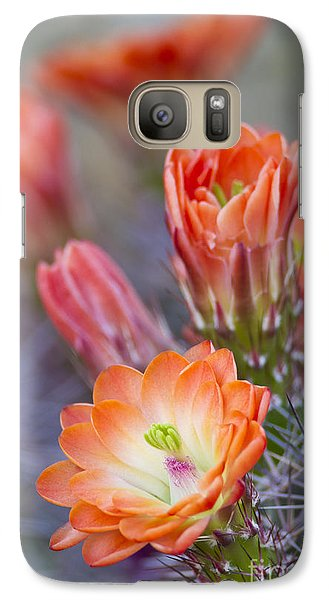 Galaxy Case featuring the photograph Bloom In Orange by Bryan Keil