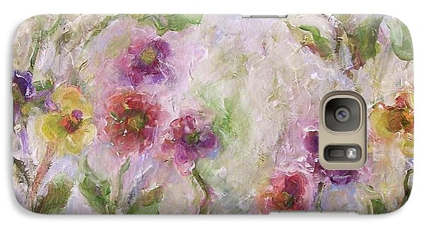 Galaxy Case featuring the painting Bloom by Mary Wolf