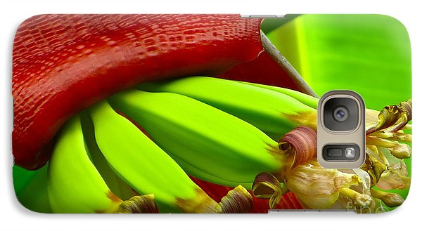 Galaxy Case featuring the photograph Blooming Bananas by Joy Hardee