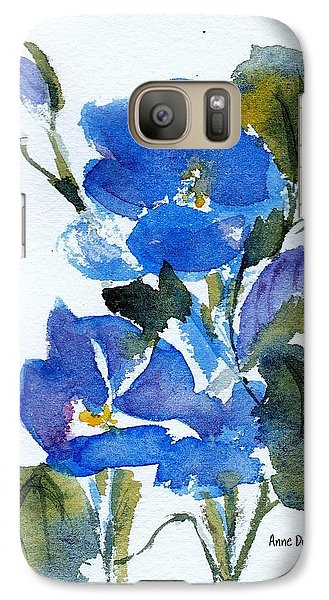 Galaxy Case featuring the painting Blooming Blue by Anne Duke