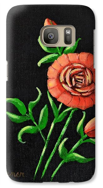 Galaxy Case featuring the painting Blooming Buds by Melvin Turner