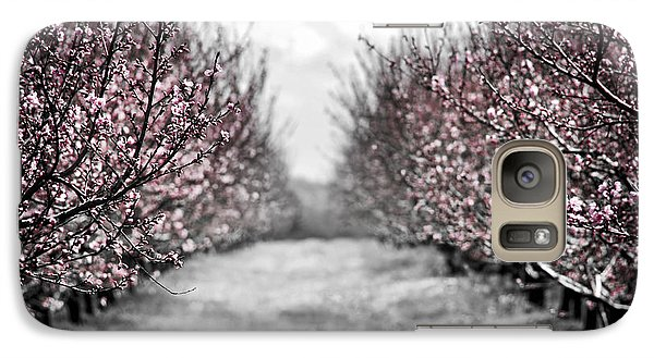 Blooming Peach Orchard Galaxy Case by Elena Elisseeva