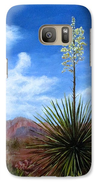 Galaxy Case featuring the painting Blooming Yucca by Roseann Gilmore