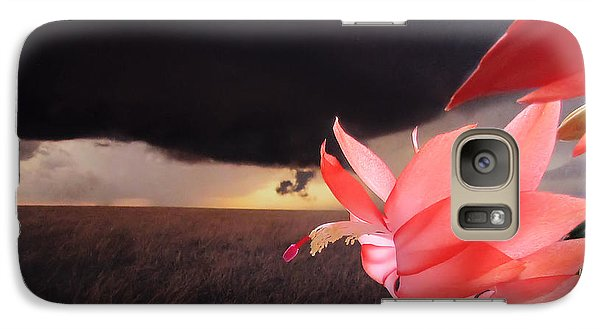 Galaxy Case featuring the photograph Blooms Against Tornado by Katie Wing Vigil