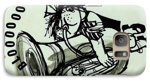 Trombone Galaxy S7 Case - Blooooob! Ink On Paper by Brenda Brin Booker