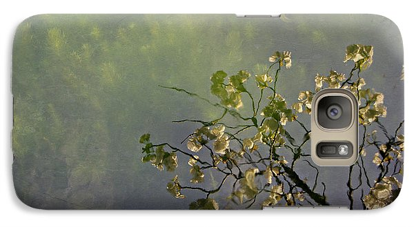 Galaxy Case featuring the photograph Blossom Reflection by Marilyn Wilson