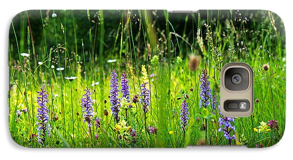Galaxy Case featuring the photograph Blossom Summer Meadow by Kennerth and Birgitta Kullman