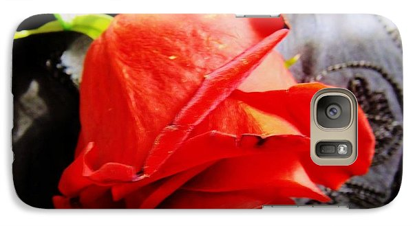 Galaxy Case featuring the photograph Blossoming Red by Robyn King