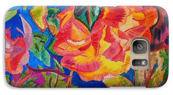 Galaxy Case featuring the painting Blossoms Aglow by Meryl Goudey