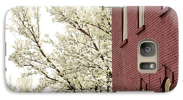 Galaxy Case featuring the photograph Blossoms And Brick by Courtney Webster