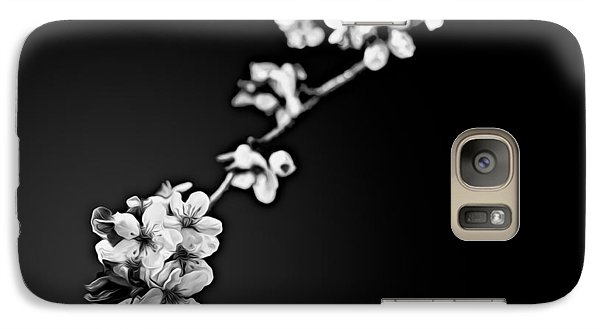 Galaxy Case featuring the photograph Blossoms In Black And White by Joshua Minso