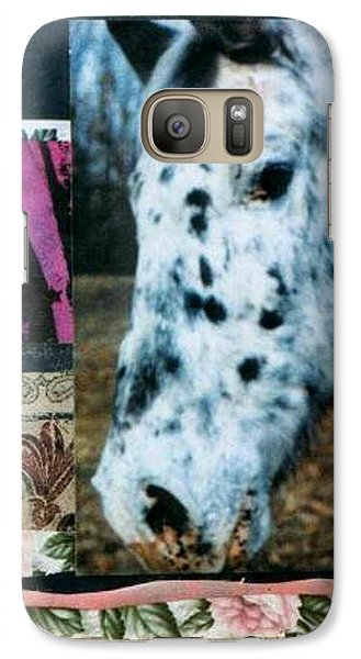 Galaxy Case featuring the mixed media Blotter by Mary Ann  Leitch