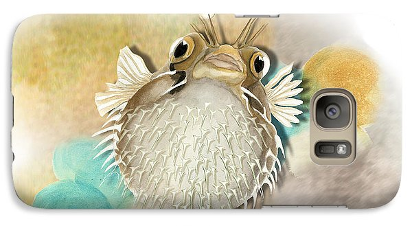 Galaxy Case featuring the painting Blowfish by Anne Beverley-Stamps