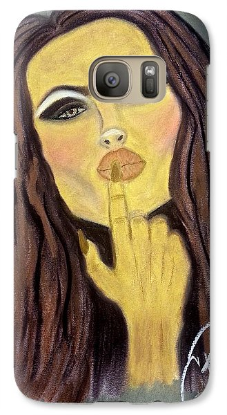 Galaxy Case featuring the drawing Blowing Kisses by Chrissy  Pena
