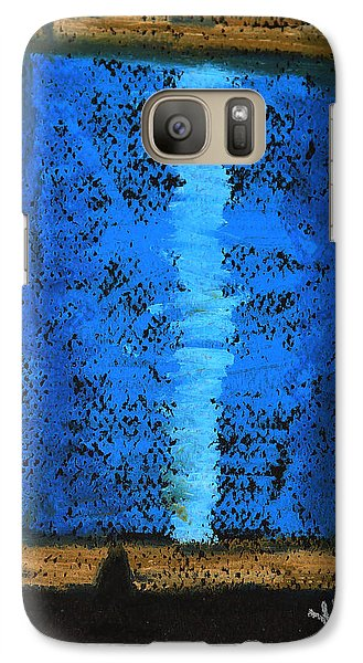 Galaxy Case featuring the drawing Blue 2 by Joseph Hawkins