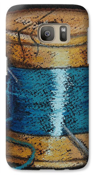 Galaxy Case featuring the drawing Blue 6 by Joseph Hawkins