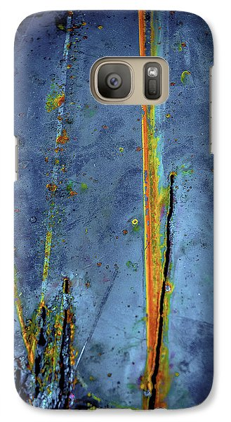 Galaxy Case featuring the photograph Blue Abstract Seven by Craig Perry-Ollila