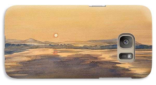 Galaxy Case featuring the painting Blue Anchor Sunset by Martin Howard