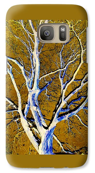 Galaxy Case featuring the photograph Blue And Gold by Jodie Marie Anne Richardson Traugott          aka jm-ART