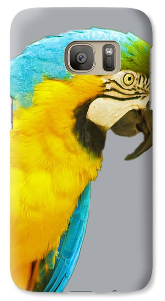 Blue And Gold Macaw Galaxy S7 Case by Bill Barber